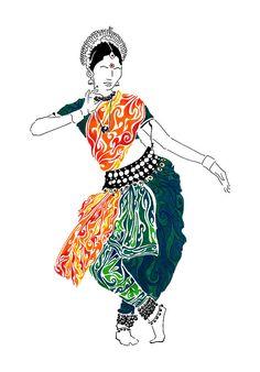 Odissi Painting - Elegance by Anushree Santhosh