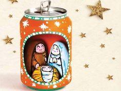 presépio reciclado  - http://www.ecoblog.it/post/13993/presepi-riciclati-a-napoli-nativita-in-plastica-lattine-e-cartone#