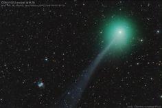 #Astronomy: #Comet Lovejoy passes near the Little Dumbbell Nebula | via @SkyandTelescope