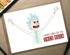 Rick and Morty, Rick and Morty Card, Rick Sanchez, Rick and Morty Gift, Get Schwifty, Adult Swim, Rick Morty Card, Valentines Card, Morty