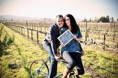 bike chalkboard vineyard engagement photo #daeplanner.com