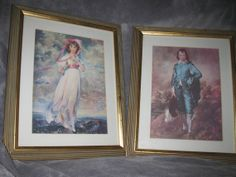 Vintage Pinkie and Blue Boy Framed Prints by TallahatchieDesigns, $40.00