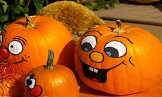 How to Paint Cute Pumpkin Faces on Pumpkins
