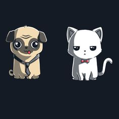 Dogs and Cats - This t-shirt is only available at TeeTurtle! Exclusive graphic designs on super soft 100% cotton tees.