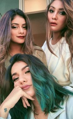 My ladies ❤️ Best Photo Poses, Girl Photo Poses, Girl Poses, Cool Hairstyles For Girls, Girl Hairstyles, Best Friend Poses, Indian Actress Gallery, Summer Makeup Looks, Stylish Girl Images