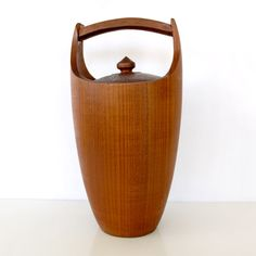 Danish Teak Ice Bucket --apparently the most gifted item for weddings in 1966