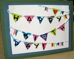 Day 1, DONE! Cute Washi Tape pennant birthday card. http://diannefaw.files.wordpress.com/2012/06/img_0008.jpg 30DOC