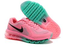 2005742a86f4 Nike Air Max 2014 Womens Running Shoes Pink Black Green uk sale