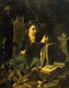 The Bookseller's Daughter - Alexandre Antigna