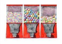Machines à bonbons / / Illustration de nourriture / / Art de la cuisine