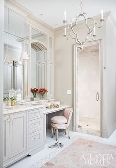 Feminine Atlanta bathroom vanity