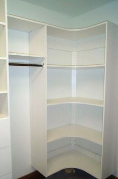 walk in closet corner shelves - Google Search