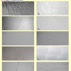Whether you're trying to conserve money by doing drywall insulation in your remodeled room on yo Wall Texture Types, Wall Texture Design, Tiles Texture, Wall Textures, How To Texture Walls, Knockdown Texture Walls, Drywall Texture, Ceiling Texture, Cement Walls