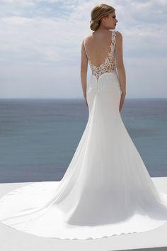 Mark Lesley Bridalwear 7369 - Mark Lesley Bridalwear Designer Wedding Dresses, Bridal Dresses, Wedding Gowns, Seductive Women, Nude Color, Carolina Herrera, Beaded Lace, Bridal Collection, Chiffon