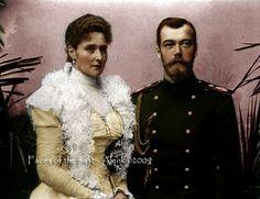 Emperor Nicholas II. Alexandrovich Romanov (1868-1918), last Tsar of Russia, with his wife Alexandra (1872-1918) in 1898.