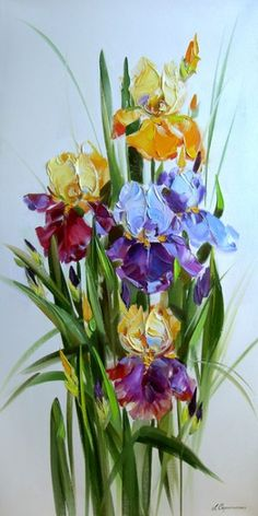 Irises. By Svetlana Scripcenco.
