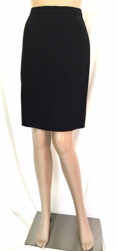Sonia Rykiel Black A-Line Knee Length Skirt - Size 42 - US Size 12 - EUC #SoniaRykiel #ALine