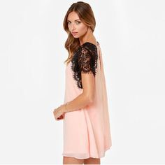 whatgoesgoodwith.com light-pink-casual-dress-17 #cuteoutfits