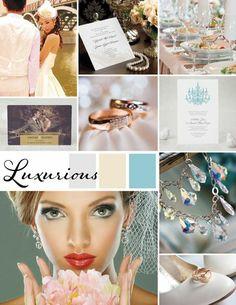 Luxurious Wedding Inspiration | Silver, gold, metallic wedding color ideas