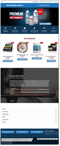 Sportnahrung-Handel.de is a full responsive online shop for high quality supplements, sports nutrition and sportswear. The user interface design (UID) and user expirience design (UXD) is brilliant. The launch of Sportnahrung-Handel.de was very successful and we are proud to present our users a very clean and modern Onlineshop.
