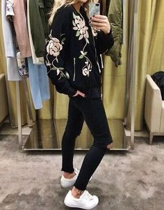 needle and thread bomber jacket - Google Search