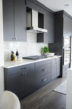 Here are the Dark Grey Kitchen Design Ideas. This article about Dark Grey Kitchen Design Ideas was posted under the Kitchen category by our team at August 2019 at am. Hope you enjoy it and don't forget to . Contemporary Kitchen Cabinets, Modern Kitchen Cabinets, Kitchen Cabinet Design, Kitchen Flooring, New Kitchen, Kitchen Ideas, Kitchen Decor, Kitchen Inspiration, Kitchen Backsplash