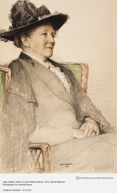 Lady Guthrie, Wife of Lord Charles Guthrie - James Paterson, 1918 Life Drawing, Figure Drawing, Pastel Drawing, Painting & Drawing, Graphite Drawings, Art Drawings, Human Anatomy Art, Pastel Portraits, Ancient Art