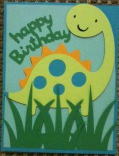 Cricut Dinosaur bday card
