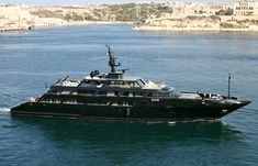 Gloss black on black yacht. If I could afford one it'd be so black. It's like, how much more black could it be?