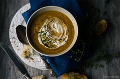 Are there still any pumpkins left after Halloween? I suggest you to use them for this yummy pumpkin soup with porcini to warm up a little bit :-) http://bit.ly/2fUwAE4