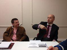 Jesús Alonso, tutor de Finanzas y Javier Moreno, Director de Marketing