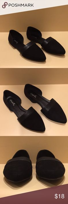 Cupid Black Suede Flats Cupid Black Suede Flats Cupid Shoes Flats & Loafers