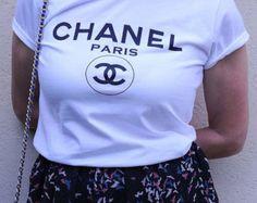 Chanel Paris T-Shirt, Chanel T-Shirt, Woman tee, Woman Tshirt, style Printed T-shirt