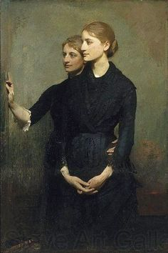 Abbott Handerson Thayer (American artist, 1849–1921) Sisters  It's About Time: 1800-1900s Angels