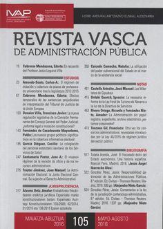 REVISTA VASCA DE ADMINISTRACIÓN PÚBLICA