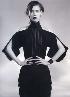 Gloomy Gothic Fashion - The Kolfinna Kristofersdottir Pop Magazine Editorial is Edgily Ebony (GALLERY)