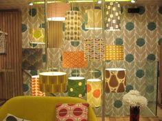 So many retro lampshades in one place!