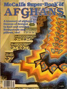 McCall's Super Book Afghans #2 Knitting Crochet Patterns Bedspreads Pillows 1980 #McCallsNeedleworkCrafts #KnittingCrochetPatterns