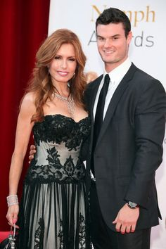 Tracey Bregman and my handsome son, Austin Recht