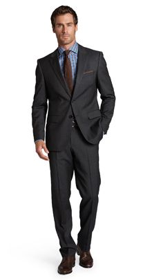 The power suit: black suit with a blue shirt and red tie. #winner