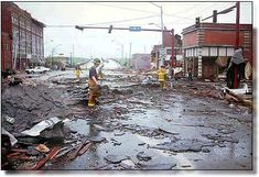 Fort Smith, the day after the 1996 tornado.