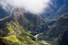 Machu Picchu ruins, Lost City of the Incas, Peru, South America.