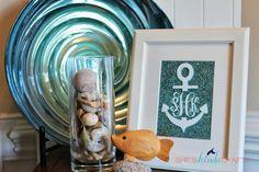 Nautical Anchor Monogram DIY Art - Shes {kinda} Crafty.