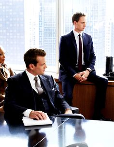 Harvey Specter, Mike Ross, and Jessica Pearson
