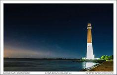 Dusk at Barnegate Light Long Beach Island New Jersey.