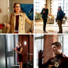 Barry and his awkward introductions after making dramatic entrance will always kill me.every one should be scared wen they see barry.he brings metahumans, immortals, aliens and freaken nazis with every time he travels Superhero Shows, Superhero Memes, Supergirl Dc, Supergirl And Flash, Barry Allen Flash, Arrow Flash, Series Dc, Batman Y Superman, Flash Funny