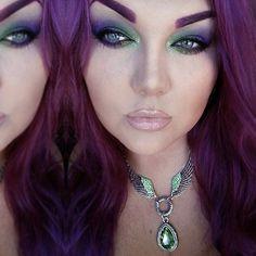 BEAUTY & MAKEUP - Sugarpill Midori, Absinthe and Poison Plum eyeshadows with EyeKandy glitter