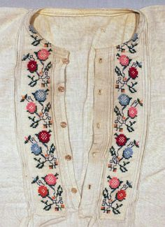 Clothes and Bulgarian Embroidery (Arts and Crafts) An authentic male embroidered. Folk Embroidery, Cross Stitch Embroidery, Embroidery Patterns, Machine Embroidery, Ethno Style, Antique Quilts, Folklore, Folk Costume, Needlework