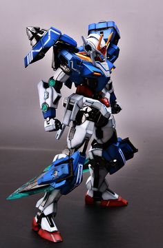 GUNDAM GUY: MG 1/100 00 Gundam Seven Sword - Painted Build