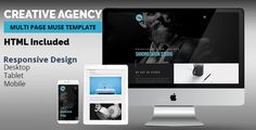 Creative Agency Muse Template by k-project CREATIVE AGENCY ¨CMulti Page Adobe Muse templateIt¡¯s simple and clean, cool lookin¡¯ multipage  template designed for Business Agency, Creative Agency, Design Studio, Development Company,IT Company. No coding skills requi